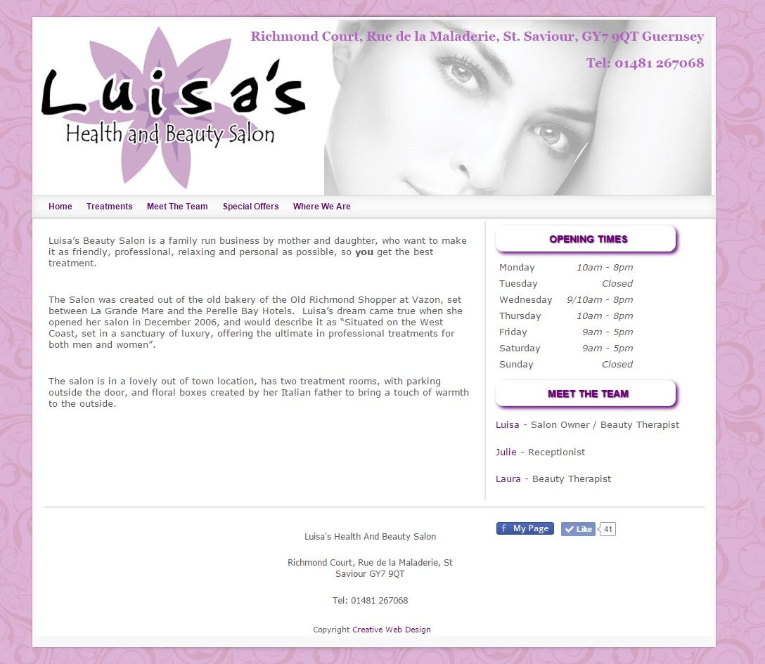 Luisas Beauty Salon Guernsey